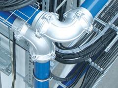 Instalacje aluminiowe gazów technicznych jak sprężone powietrze, próżnia