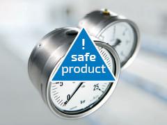 Manometry bezpieczne o podwyższonym bezpieczeństwie dla użytkownika