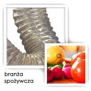 Przewód ssawny dla produktów i substancji spożywczych